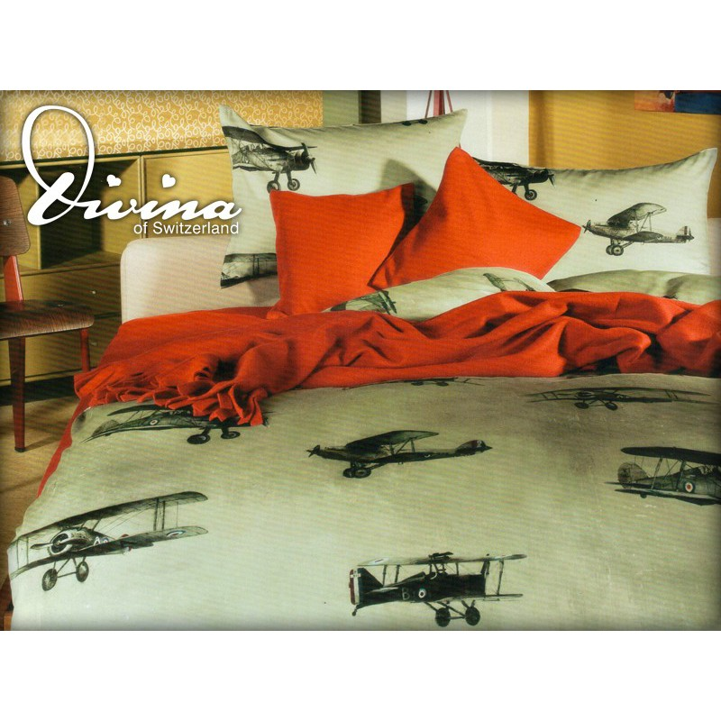 Divina aviation set housse de duvet et traversin for Housse de traversin