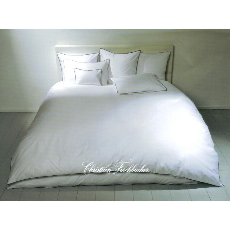christian fischbacher linge de lit satin selection bord cousu. Black Bedroom Furniture Sets. Home Design Ideas