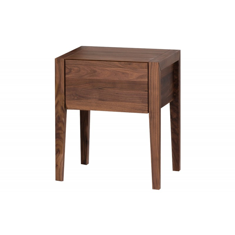 Bico table de nuit nova noyer for Table de nuit ikea en noyer