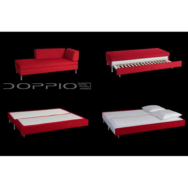 Swissplus doppio sofa bed complete version 2 for Complete divan beds