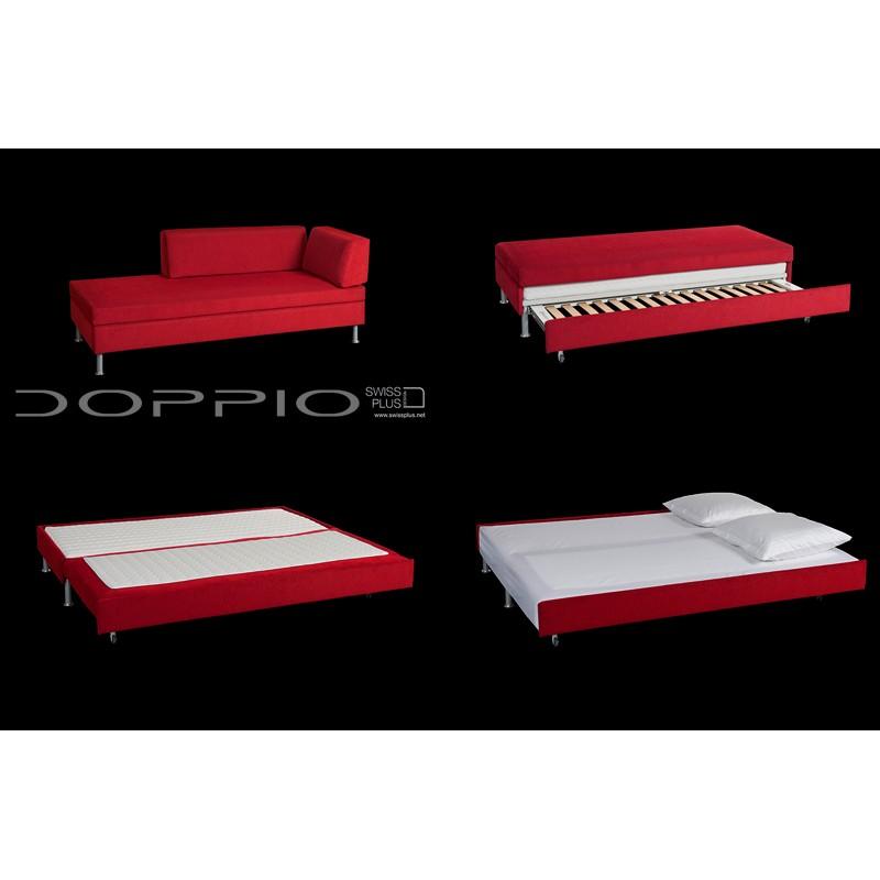 Swissplus doppio divano letto completo piedi quadrati inox for Divano letto doppio