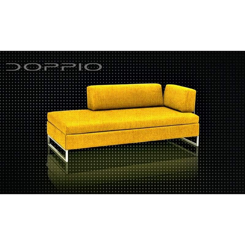 Swissplus doppio divano letto completo piedi quadrati cromato for Divano letto doppio