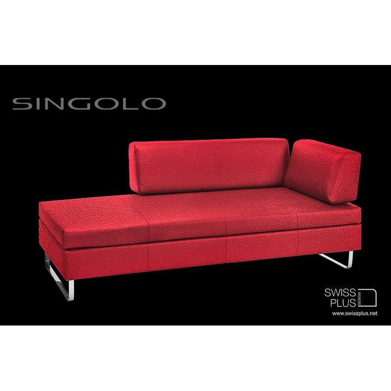 Swissplus singolo divano letto completo pattini cromato - Letto divano singolo ...