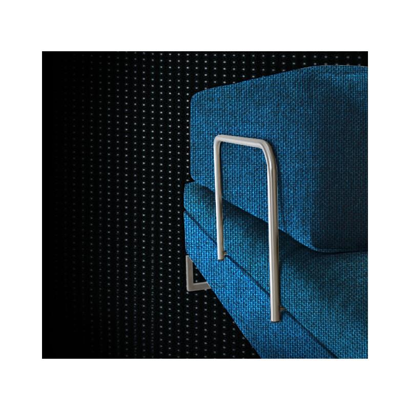 Swissplus poggiapiedi letto completo piedi quadrati cromato - Poggiapiedi letto ...