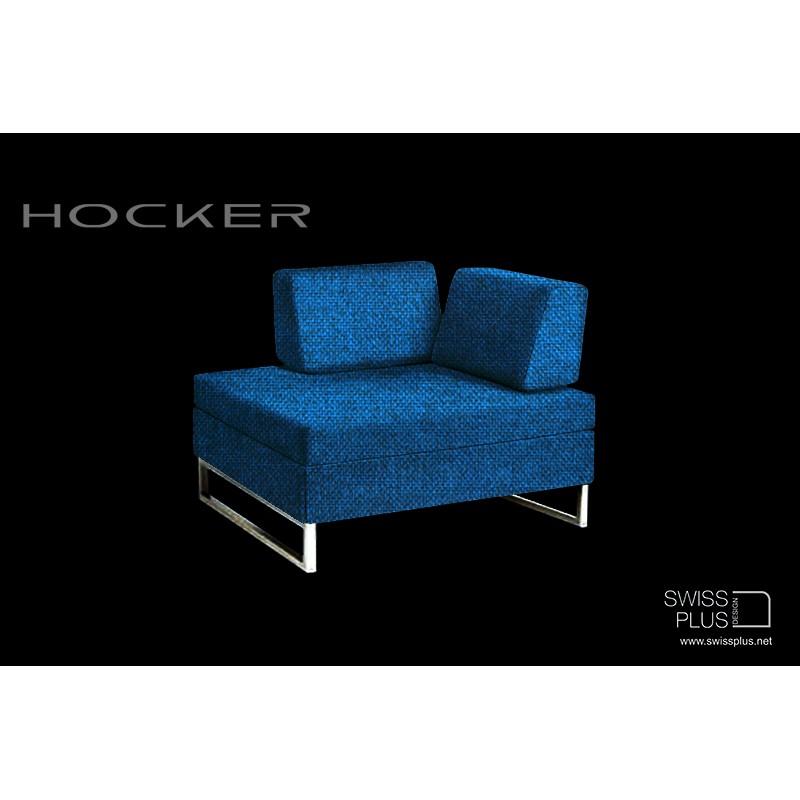 swissplus hocker bett komplett rahmen f sse verchrom. Black Bedroom Furniture Sets. Home Design Ideas