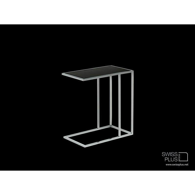 swissplus table de nuit en m tal chrom. Black Bedroom Furniture Sets. Home Design Ideas